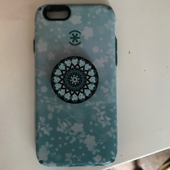 newest e05b2 f1695 iPhone 6/6s speck phone case with popsocket